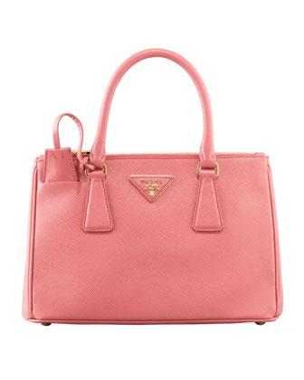 Prada Mini Saffiano Lux Tote Bag, Pink, (Geranio)