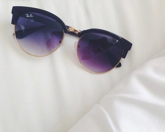 sunglasses black and gold