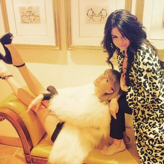 coat animal print leopard print selena gomez taylor swift instagram shoes sandals