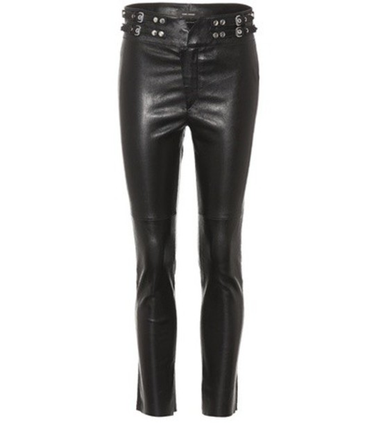 Isabel Marant leather black pants