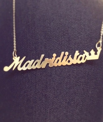 jewels real madrid necklace collier madridista