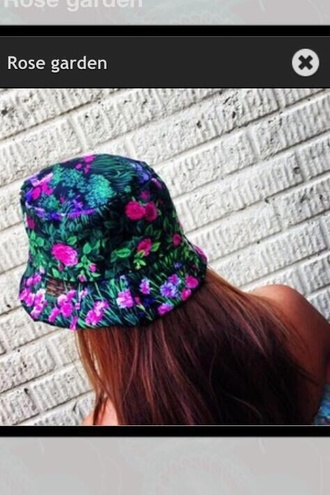 floral bucket hat flower hats