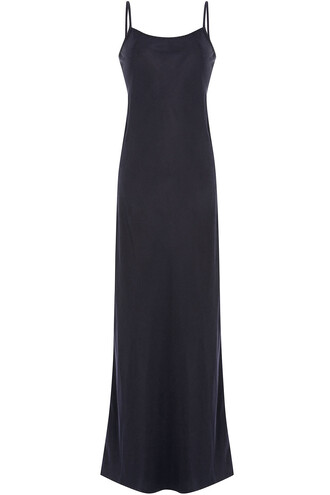 dress slip dress blue