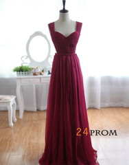Length backless bridesmaid dress, prom dresses