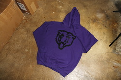 Purple/Black *Bears* Pullover Hoody - ToConquerkingdoms