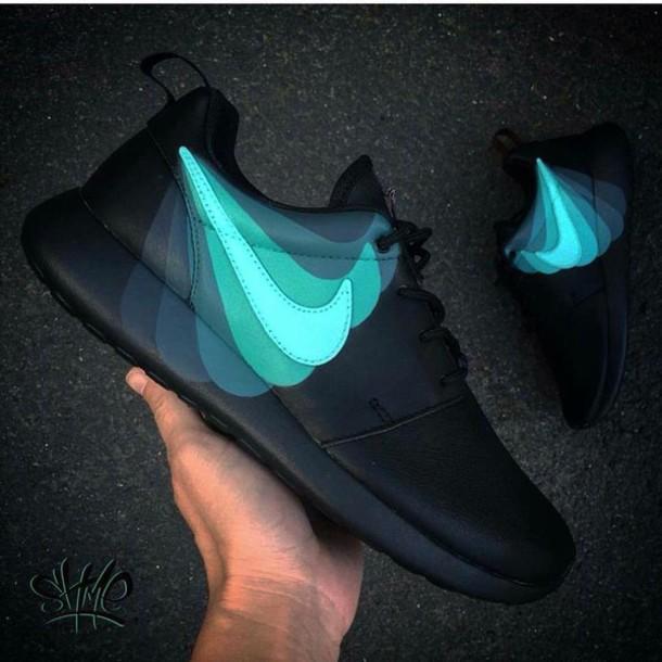 black blue nikes