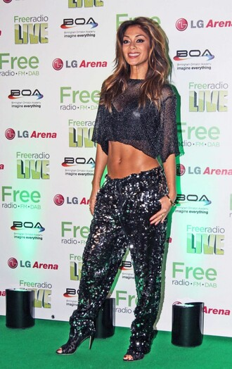 pants crop tops sequins nicole scherzinger sparkly