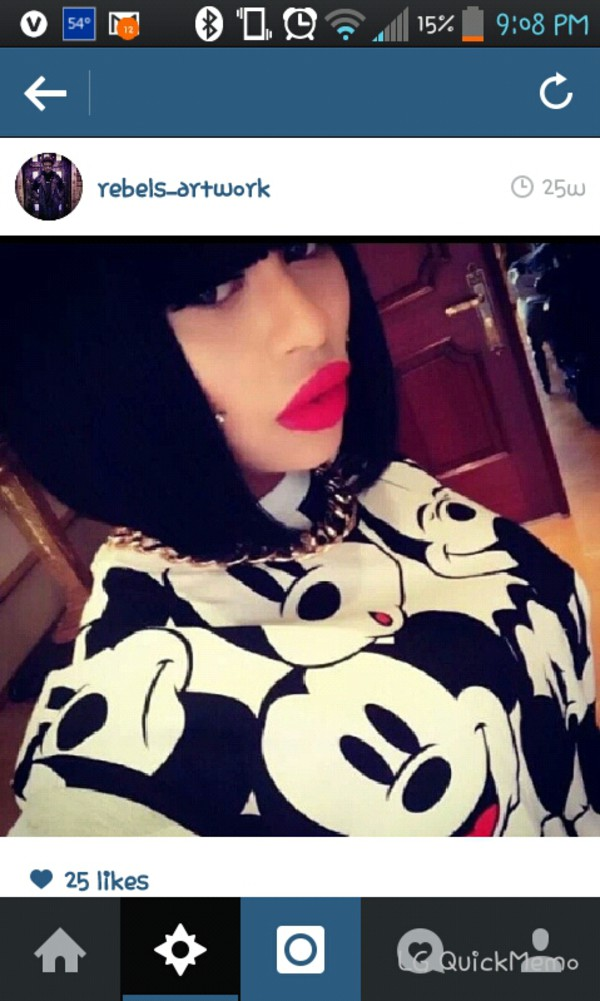 sweater blac chyna mickey mouse