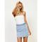Double dutch braided denim skirt by minkpink