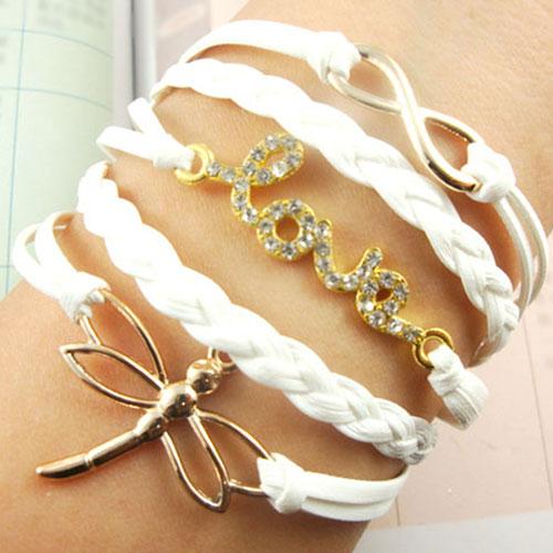 Love Dragonfly Pendant Multi-strand Infinity Charm Bracelet [grxjy5120196] on Luulla