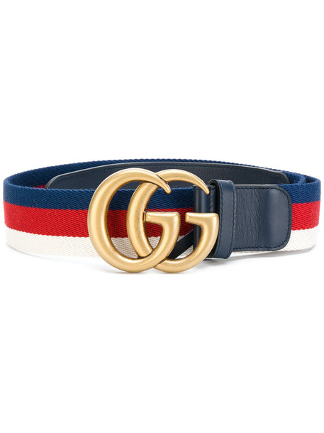gucci women belt leather cotton blue