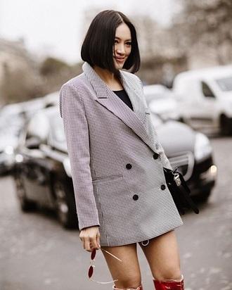 dress grey grey blazer oversized oversized blazer blazer dress streetstyle