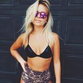 swimwear,sunglasses,purple sungl
