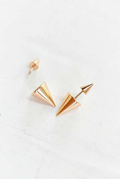 jewels gold earrings hipster swag