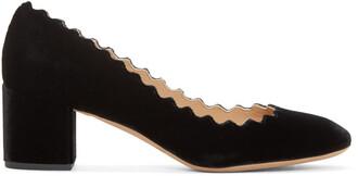 heels black velvet shoes