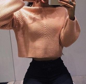 sweater nude crop tops jumper