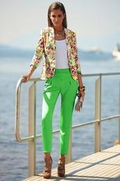 pants,greem,silky,shiny,betty barclay???