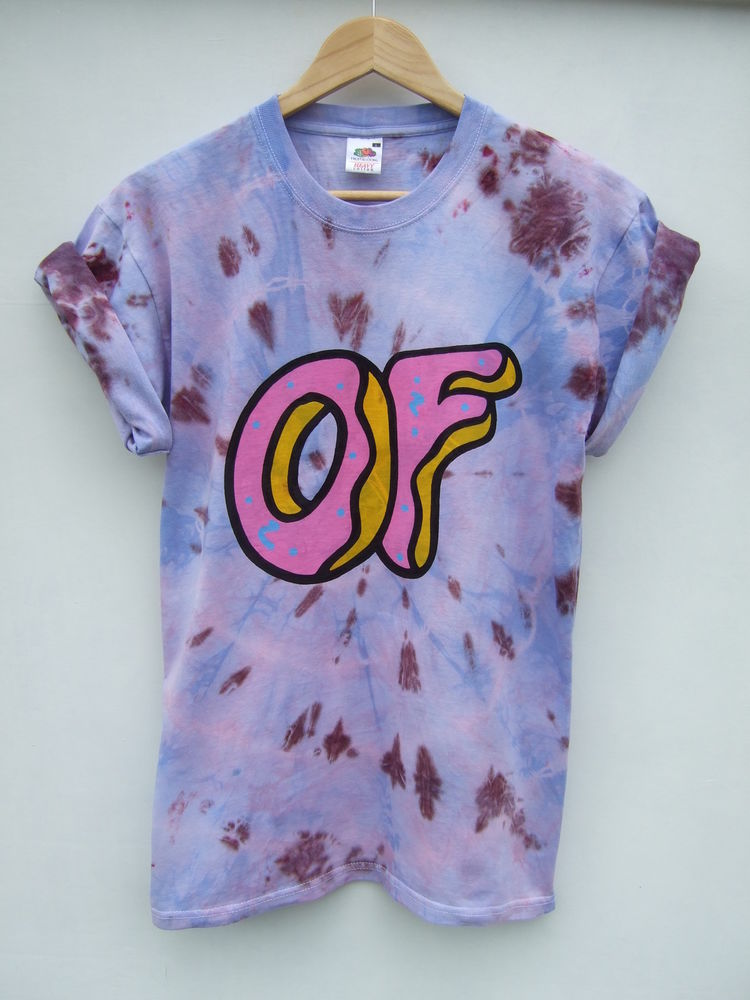 d430bbf5d295e0 DIP Tie Dye Ombre Odd Future Donut OFWGKTA T Shirt Hipster Festival