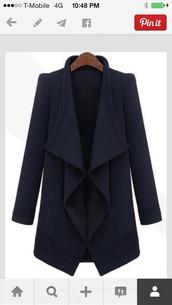 jacket,structured,wool,coat,warerfallb,wool coat,waterfall blazer,waterfall