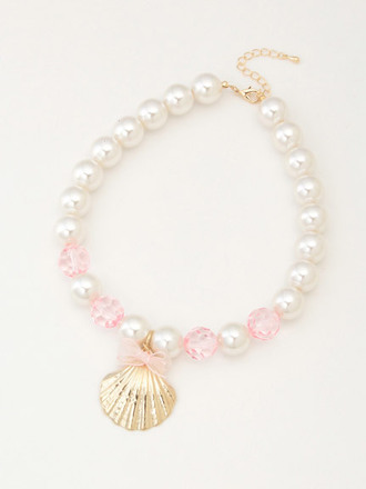 jewels necklace pearl mermaid shell seashell cute kawaii sea creatures