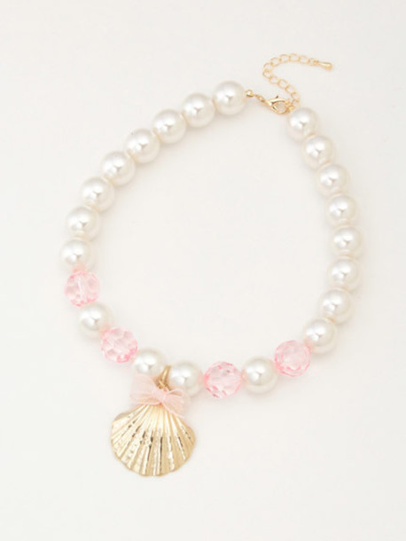 jewels necklace pearl mermaid shell shell cute kawaii sea creatures