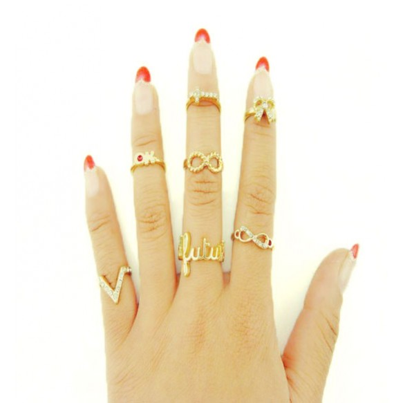 Embellished Ring Multipack