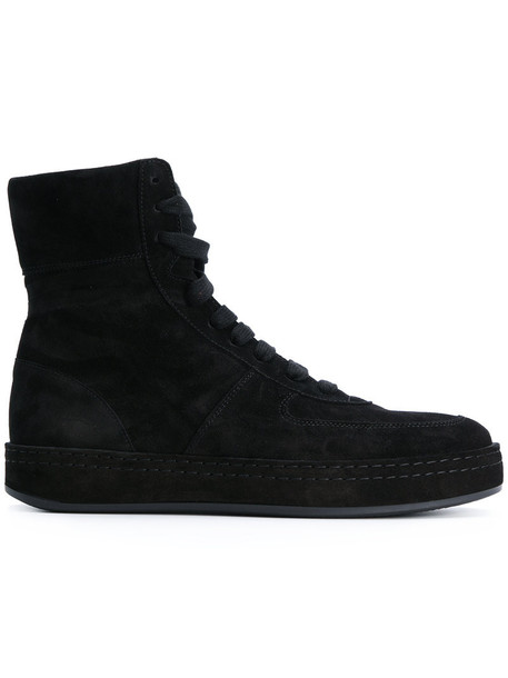 ANN DEMEULEMEESTER women sneakers lace leather suede black shoes
