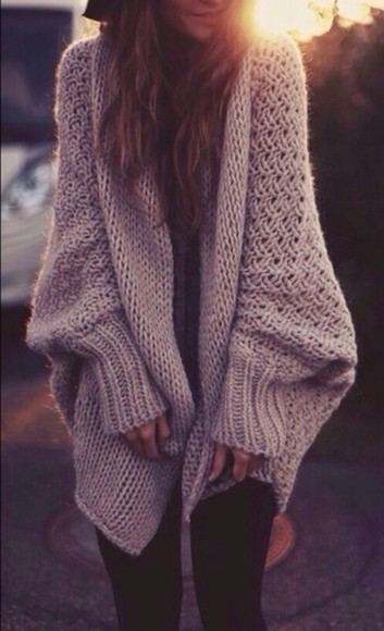 sweater knit cardigan jacket