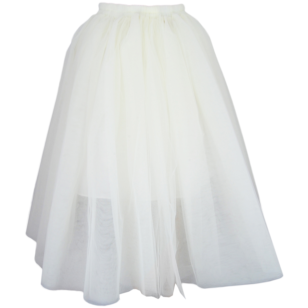 Tulle Midi Skirt - Cream | Style Icon`s Closet