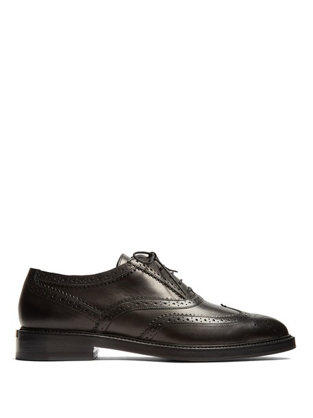 Burberry leather black shoes