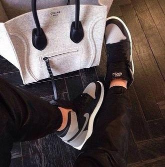 bag celine grey grey & black