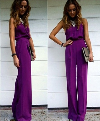 jumpsuit evening outfits evening dress purple cocktail dress chic