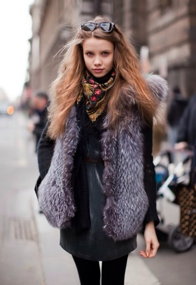 fur faux faux fur coat vest