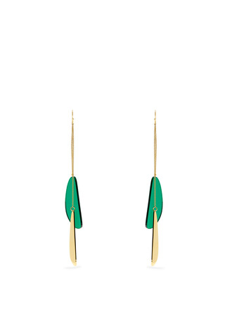 earrings green jewels