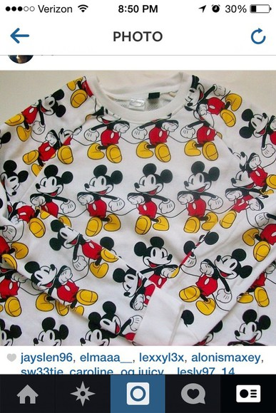 mickey mouse mickey mouse sweater