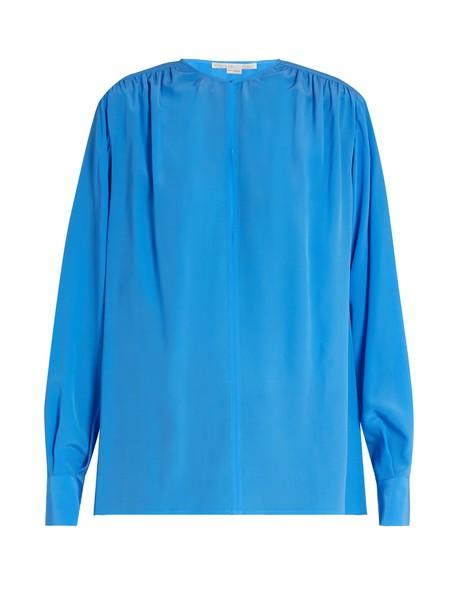Stella McCartney blouse silk blue top