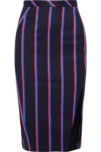 skirt cotton wool navy