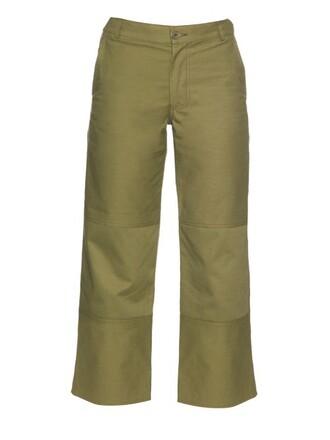 cropped high khaki pants