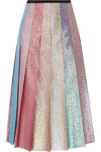 skirt midi skirt pleated pastel midi pink pastel pink