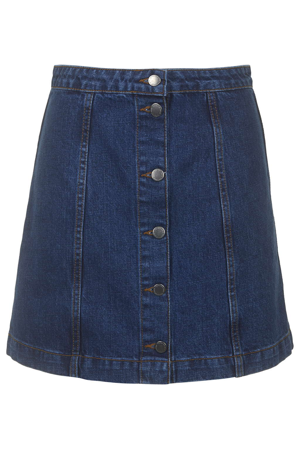 Button Front A-Line Skirt - Denim Dreamers - We Love