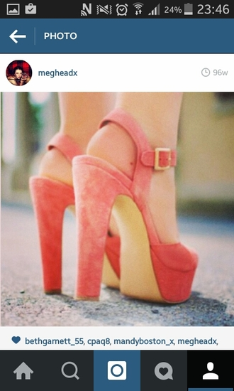 shoes heels shoes high heels coral