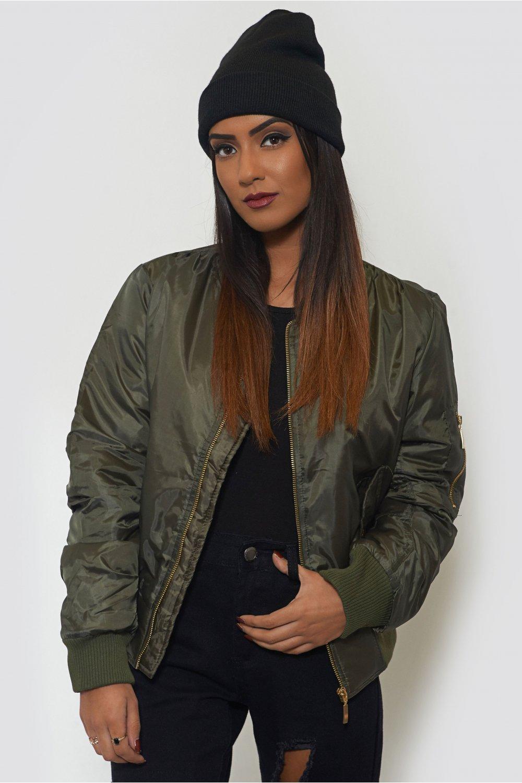Inspired Khaki Bomber Jacket - from The Fashion Bible UK