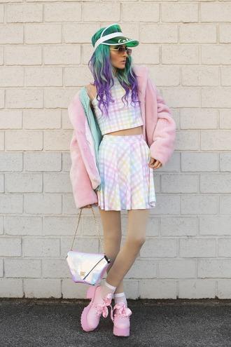 gina vadana vintageena blogger shoes sunglasses bag skirt blouse