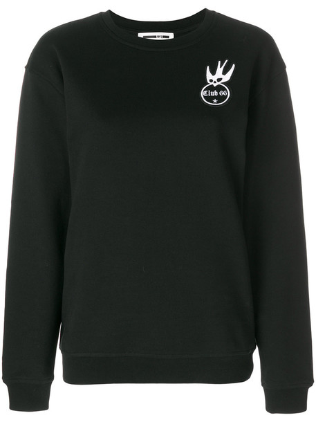 McQ Alexander McQueen sweatshirt embroidered women cotton black sweater