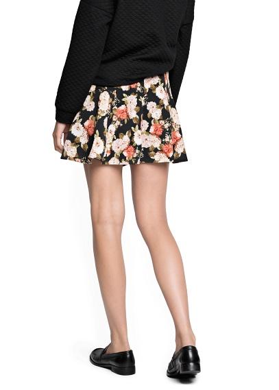 MANGO - CLOTHING - Skirts - Floral print skater skirt