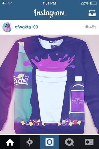 dope lean cigarette jolly ranchers sweater cool purple
