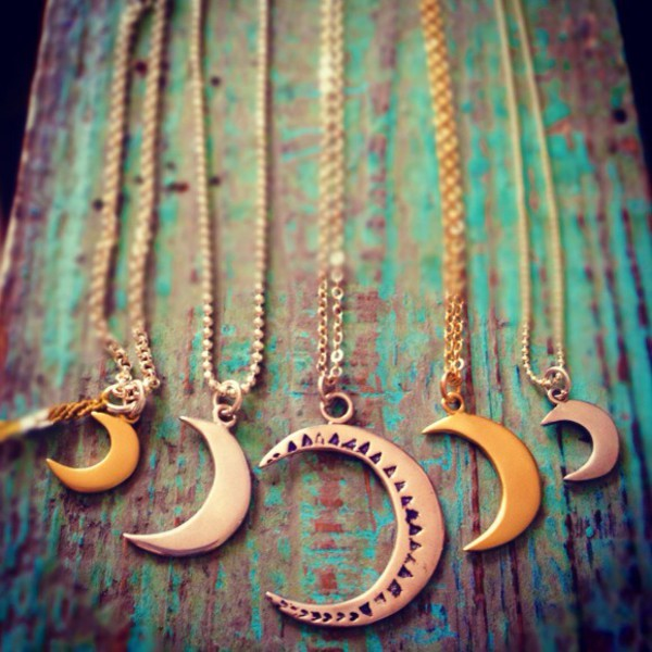 jewels lunar luna moon bronze astral crescent moon crescent moon necklace moon necklace