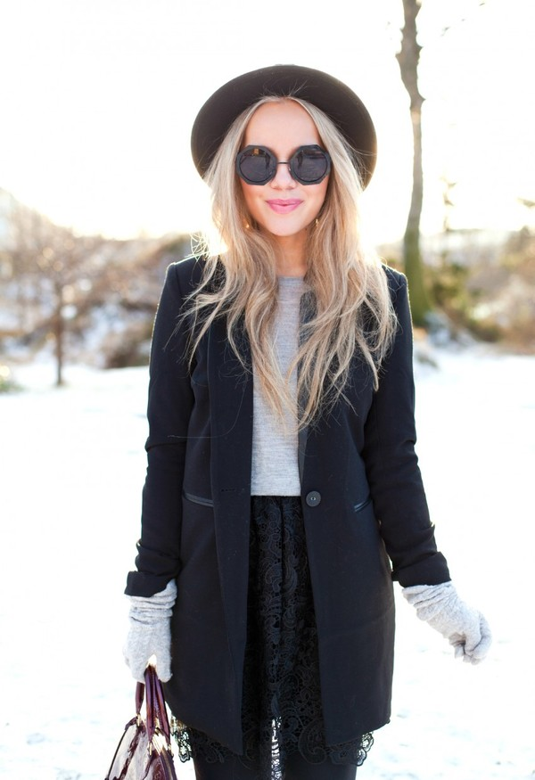 cath in the city jacket t-shirt sunglasses skirt bag hat shoes