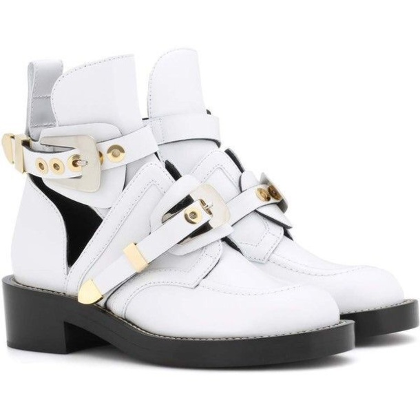 shoes balenciaga replica ankle boots white leather