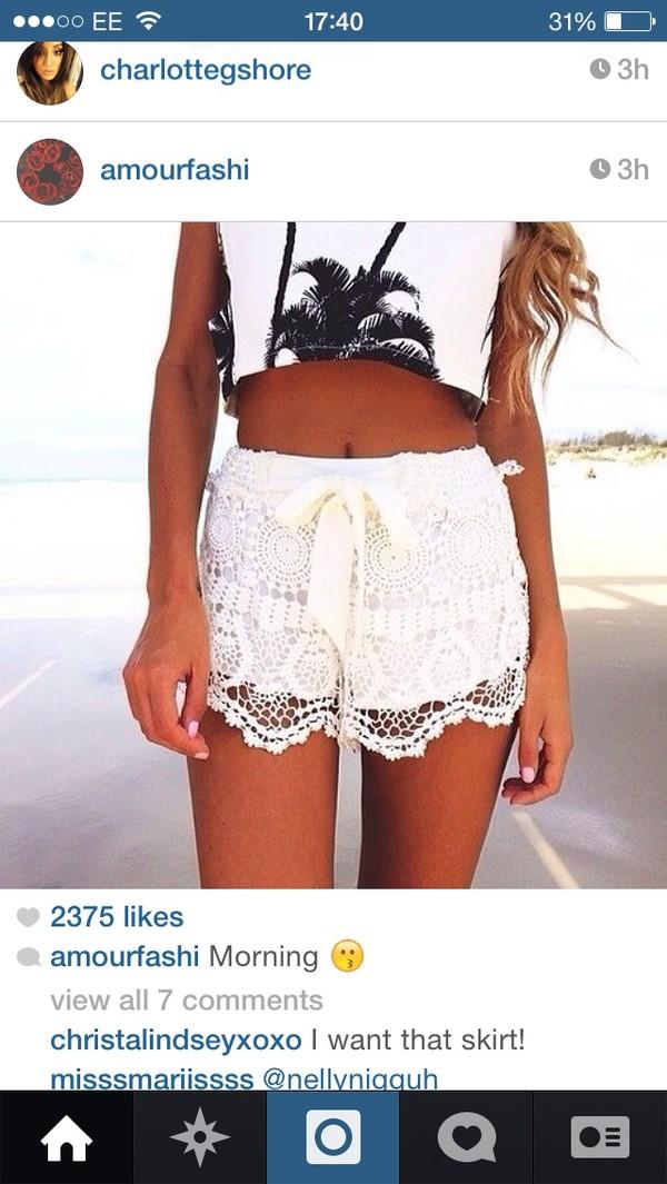 shorts white shorts printed shorts top